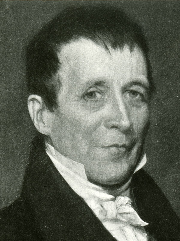 Hospital cofounder James Jackson young man, lithograph
