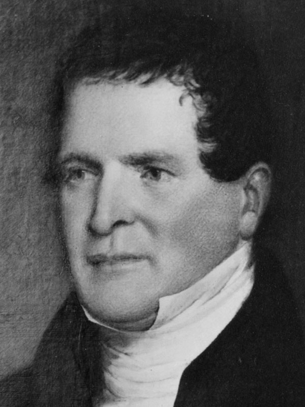 Portrait Rev. John Bartlett with high collar shirt